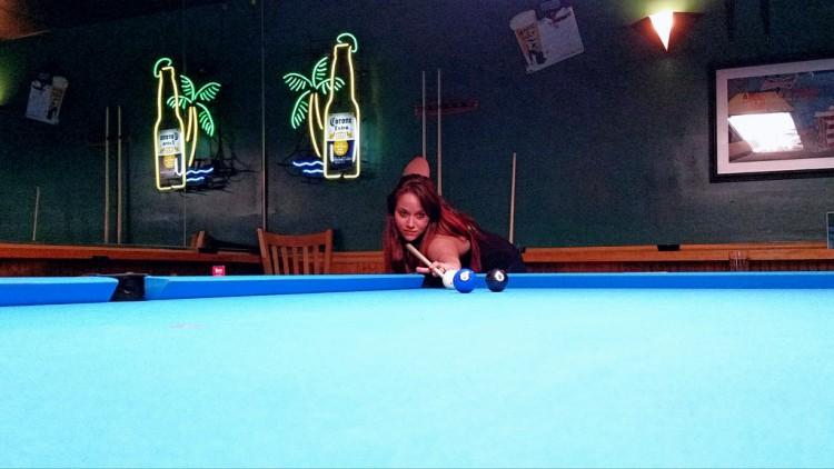 billiard shot