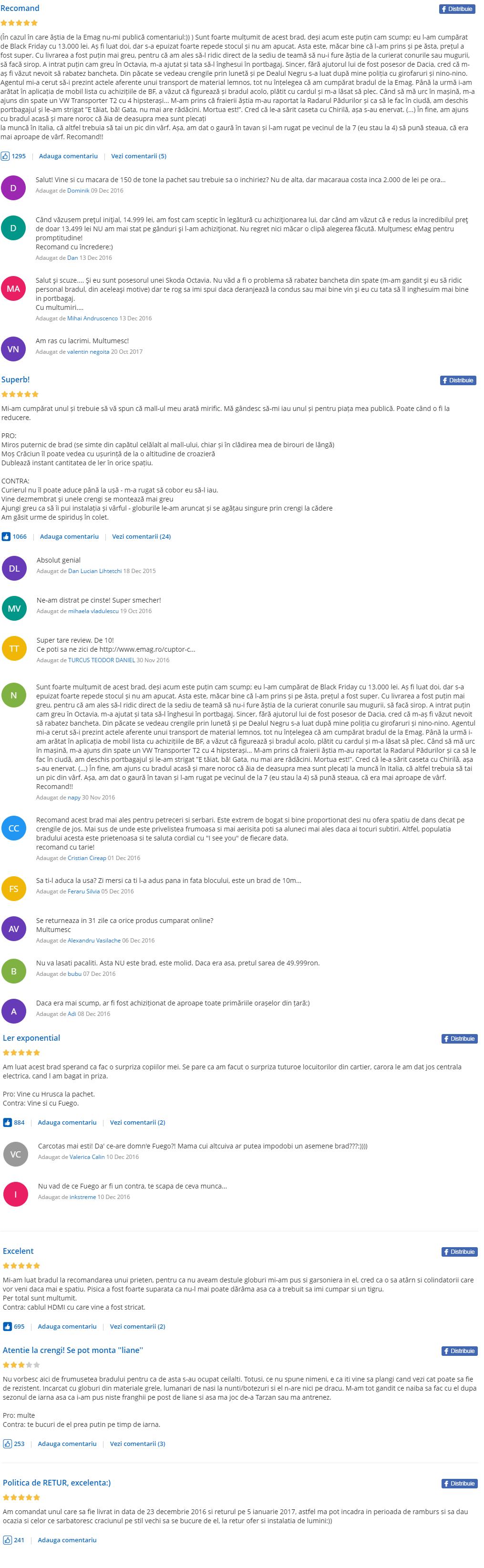 comentarii brad